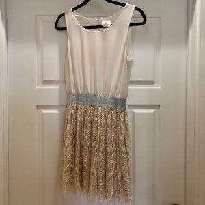 Pins & Needles White and Cream Aline Dress